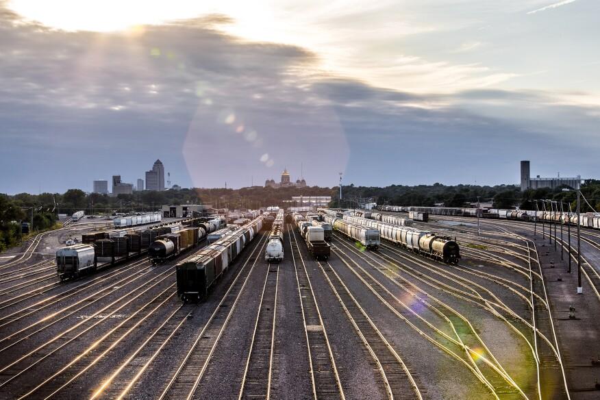 Trains in Des Moines, Iowa