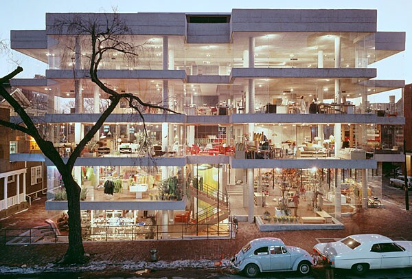 The Design/Research building in Harvard Square, Cambridge, Mass.