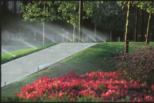 Free Flow: Your development's sprinkler system is under attack—from vandals, chemically treated water, and grit. Rain Bird's new RD1800 Series Sprays were designed to handle such challenges, long before the maintenance team notices a damaged or stolen spray head. The units feature the company's Flow-Shield Technology, which reduces the amount of water flowing through the stem of a missing nozzle by up to 90 percent (or up to 50 percent compared with a typical pressure-regulating spray).