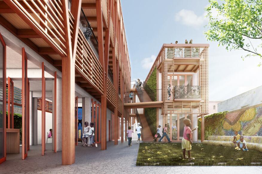 Project Haiti courtyard
