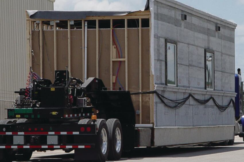 A Texas-Based Modular Manufacturer Ships Modules With Concrete Foundations