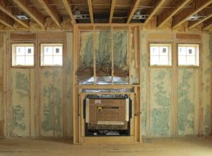 The KellyGreen house is insulated with both open- and closed-cell spray foam insulation.