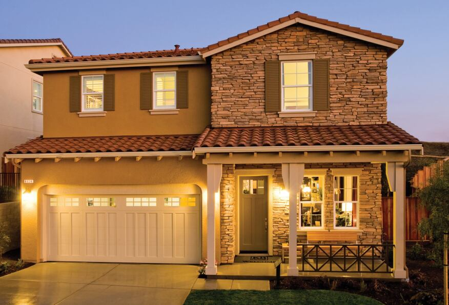 Dwellings in KB Home's North Haven community near San Jose, Calif., are GreenPoint Rated at no extra cost to buyers and include features such as recycled-content driveways and foundations, high-performance HVAC systems, and low-VOC paints and finishes.