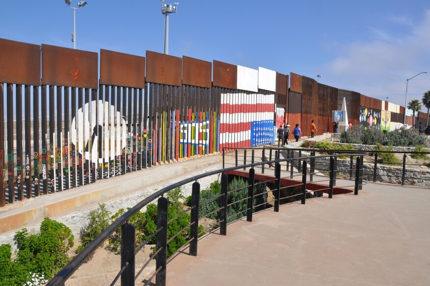 Friendship Park Fence on the U.S.-Mexico Border