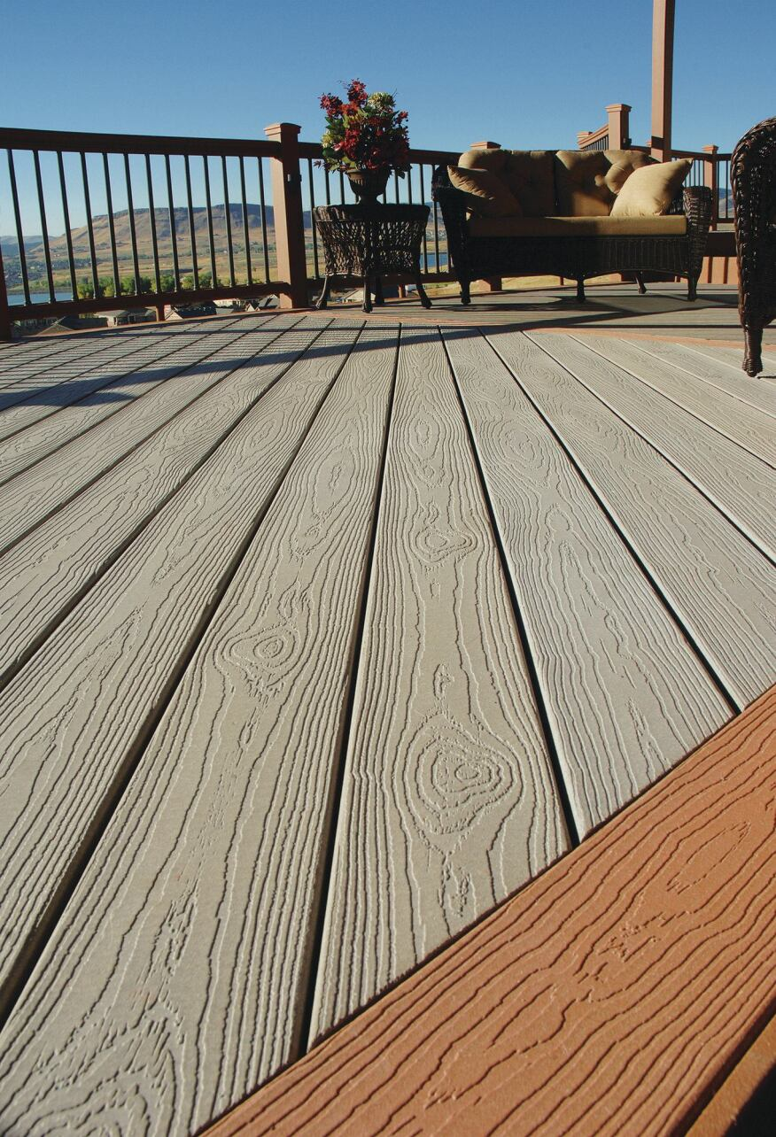 Tamko building products evergrain composite decking for Building a composite deck