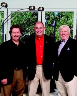 """THE NCHI TEAM: While the """"build by committee"""" nature of The New American Home  is foreign to most builders, the team of (L–R) Tucker Bernard, senior  director at the NCHI in Washington; Chuck Edwards, TNAH '07 taskforce chairman  and president of Charles Homes in Marietta, Ga.; and Bill Nolan, TNAH '07 taskforce  vice chairman and vice president of the Affordable Housing Institute  in Orlando, shepherded the project from start to finish."""