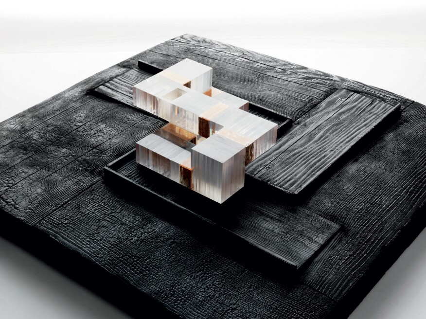 Model of the Dutchess County residence in New York