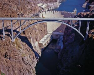 The Mike O'Callaghan-Pat Tillman Memorial Bridge opened a few miles from Las Vegas in 2010, 75 years after President Franklin D. Roosevelt dedicated neighboring Hoover Dam.