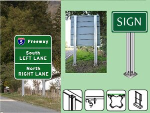 Aluminum break-away sign posts
