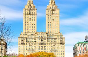 The San Remo • Location: New York • Architect: Emery Roth • Built: 1929 • Units: 136 Notable: Past and present residents of the 27-story property include A-list celebrities Demi Moore, Steve Martin, Glenn Close, Dustin Hoffman, and U2's Bono. The twin tower design has also inspired a number of Big Apple projects over the years, including The Majestic, The Century, The Eldorado, and the Time Warner Center.