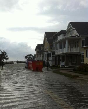 An Atlantic City street after Hurriane Sandy. Todd Mller has a recent project here.