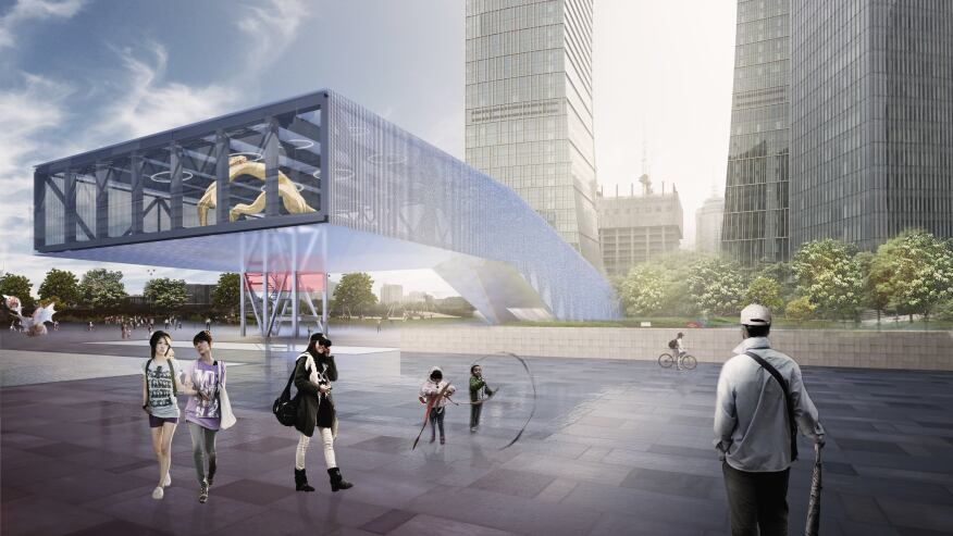 Oma selected to design shanghai s lujiazui exhibition - Office for metropolitan architecture oma ...