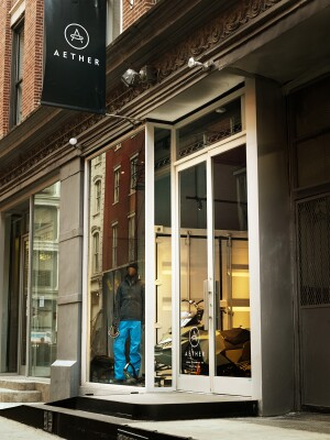 Aether's New York City store in SoHo.