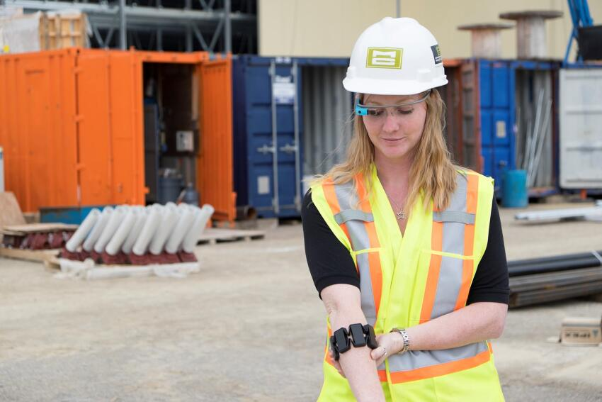 Bridgit is now testing the integration of its Closeout app with smartglass and the Myo armband.