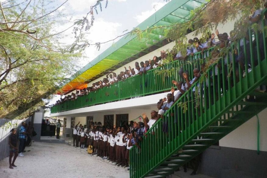 The Collège Mixte Le Bon Berger in Montrouis, Haiti