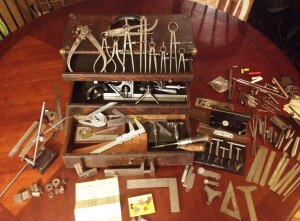 But inside was a treasure trove of tools--some dating back 100 years.