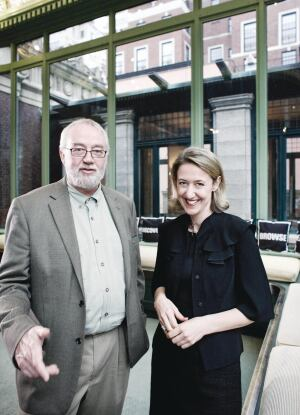 Bill Moggridge and Caroline Baumann, the newly appointed director of the Cooper-Hewitt and his associate director, offer a glimpse of galleries to come.