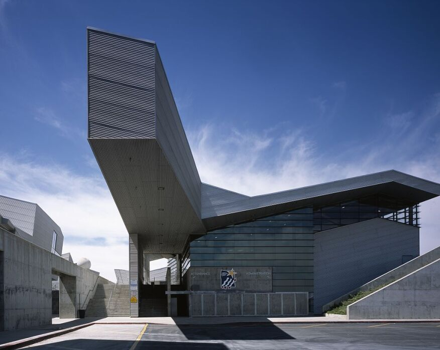 Diamond Ranch High School, in Pomona, Calif., by Morphosis Architects, 1999