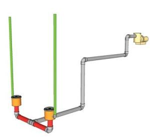 The direct route: Vents plumbed right into the sump, such as this example, can prove closer to fail-safe, because of the low head loss through the outlet cover. This means that, when the pump starts, water should only draw down a small amount. It is unlikely that the line will completely evacuate unless an entrapment occurs.