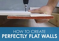 How to Create Perfectly Flat Walls with Buttboard Video