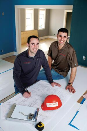 "Seattleís Best  Rob Carlisle (left) and Alex Adolfi of Carlisle Classic Homes, in Seattle, are keenly aware that ""the customer is always right."""