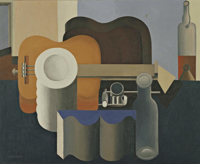 Nature Mort (Still Life), an oil painting from 1920, just before Charles-Édouard Jeanneret reinvented himself as Le Corbusier.