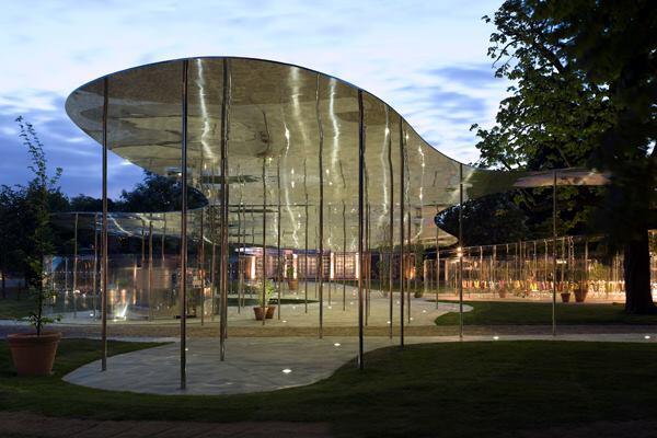 Serpentine Gallery Pavilion 2009, designed by Kazuyo Sejima and Ryue Nishizawa of SANAA