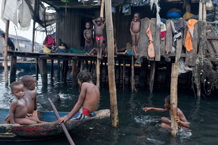 Makoko community in Lagos, Nigeria.