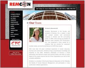 Kimberly Remmereid is president and founder of Remcon Inc., which provides precast and structural steel erection.