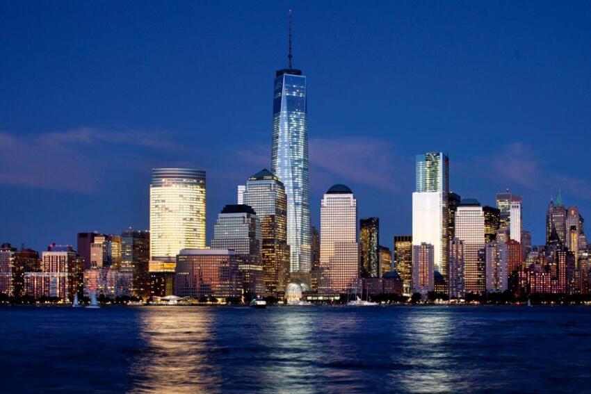 One World Trade Center rises above the lower Manhattan skyline in New York onSept. 4, 2013.