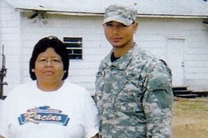 """Christian Rodriguez, in uniform, is shown with his mother, Beverly K. Noah who passed away in 2011. """"She was one of my motivations in going back to school,"""" says Rodriguez. """"She kept telling me that it is never too late to make something of yourself."""""""