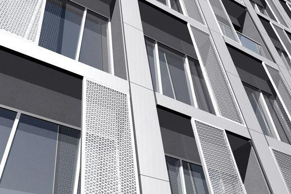 Curtainwall detail rendering.