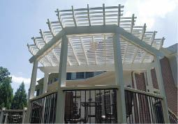 Figure 7. Not only does a pergola provide shade, it also jazzes up any deck.