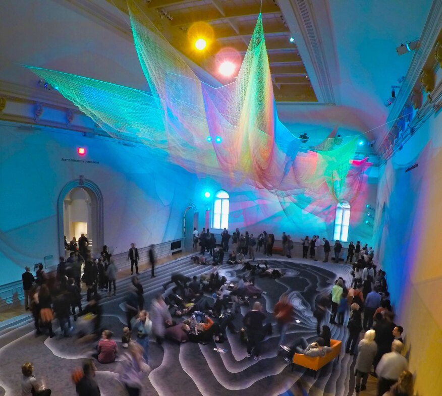 "Echelman's piece, also titled ""1.8"" like her 2015 London installation, was designed for the Smithsonian American Art Museum's Renwick Gallery's Grand Salon as part of its ""Wonder"" exhibit."