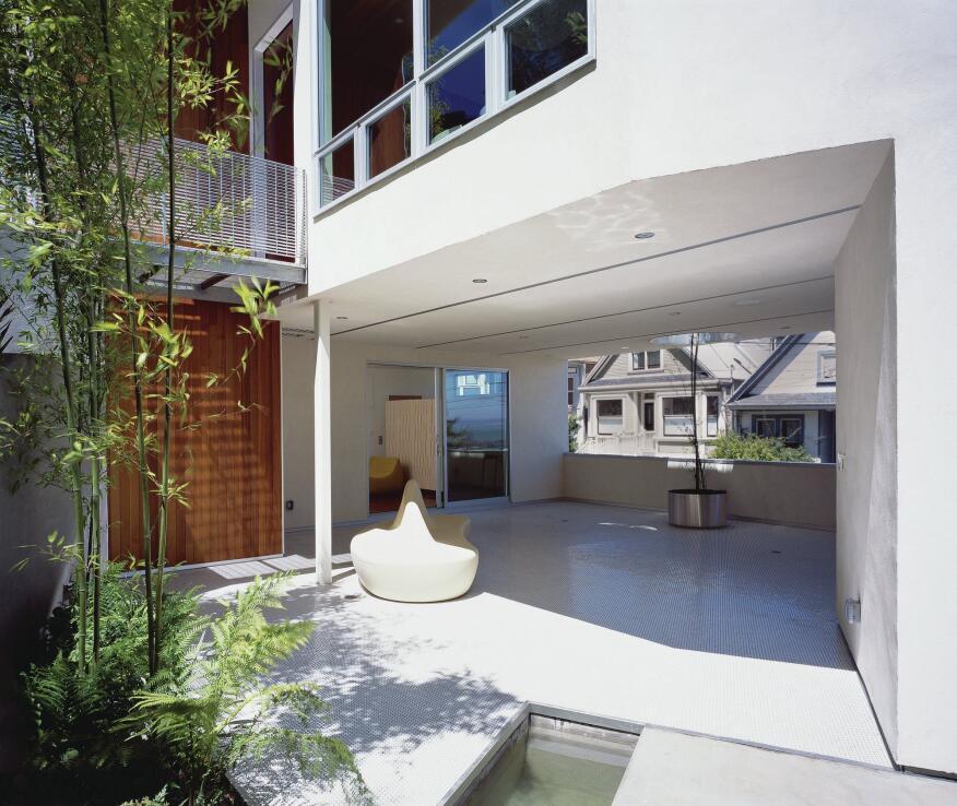 Mullen Street house courtyard.