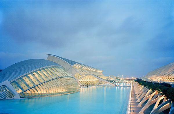 City of Arts & Sciences, Valencia, Spain, by 2005 AIA Gold Medal winner Santiago Calatrava, Hon. FAIA.