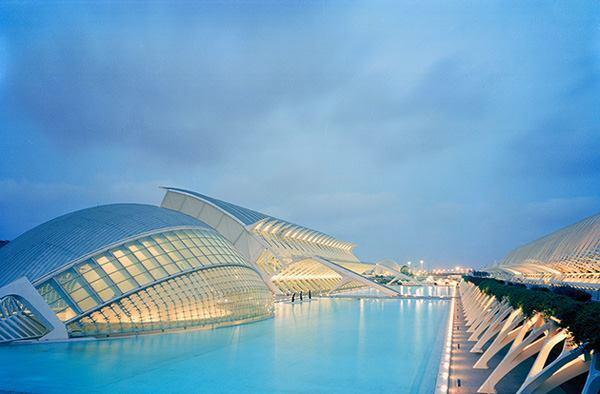 City of Arts & Sciences, Valencia, Spain, by 2005 AIA Gold Medal winner Santiago Calatrava, Hon. FAIA.