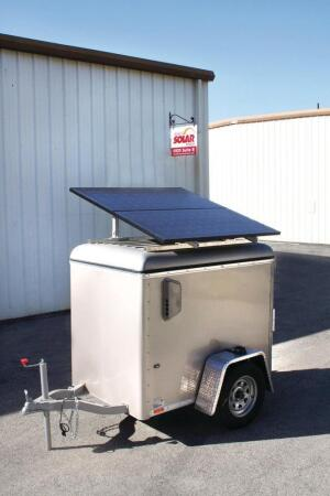 Mobile Solar Systems.    MS 100 solar-powered jobsite generators range from 9 kWh to 18 kWh of battery storage capacity, 0.95 kWh to 4.68 kWh production per day, and 1.1 kW to 3.5 kW of output power. The Wells Cargo trailers can be towed behind most four- or six-cylinder vehicles, and the products can include AC input or diesel and gasoline generator charging capability. 805.466.1006. www.mobilesolarpower.net.