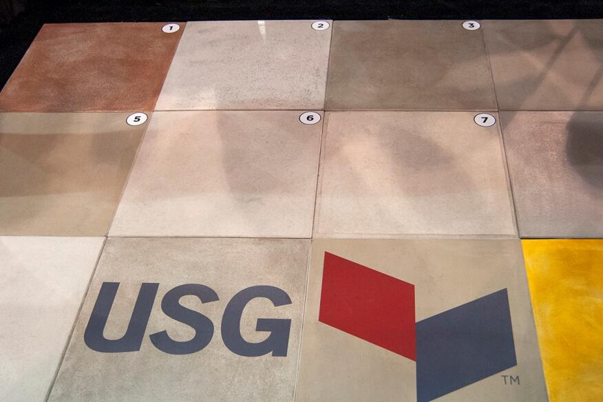 Levelrock UltraArmor is number 1 on USG's boardgame of underlayment products at WOC.