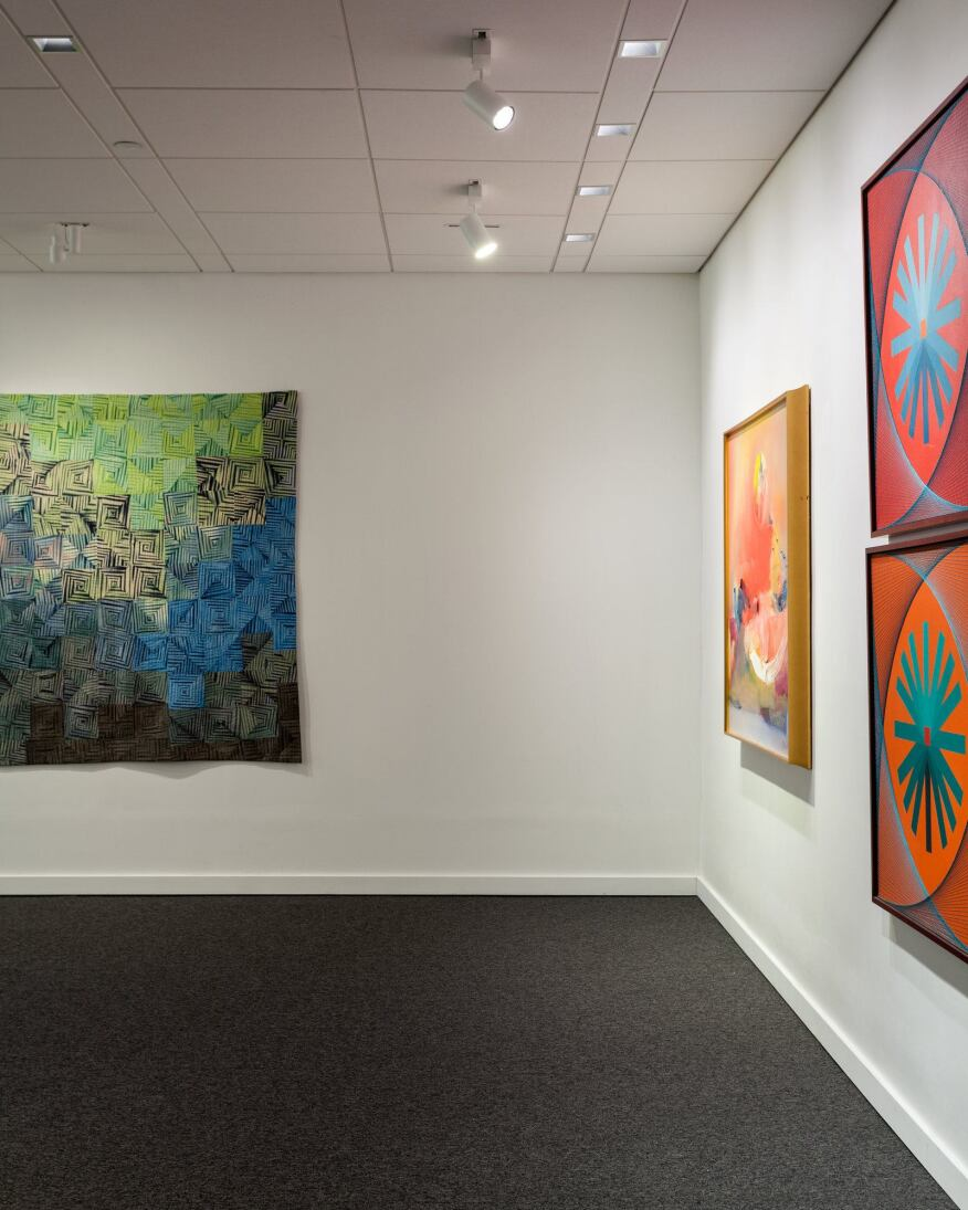 Edison Price opened a gallery inside its New York factory to showcase its fixtures alongside the work of local artists.