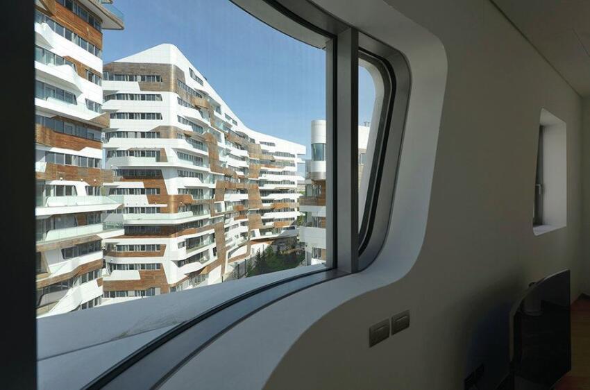 Zaha Hadid-designed residences, interior.