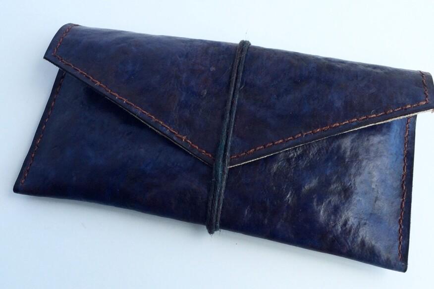 MycoWorks leather valise.