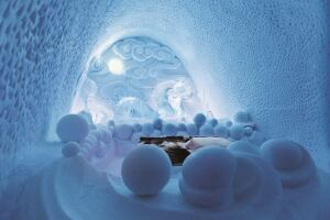 One of the rooms created in the 2012-2013 ICEHOTEL.