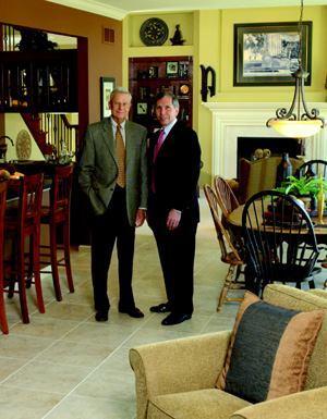 Bob McKelvey (left), former owner and Jim Brennan, president, McKelvey Homes