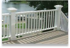 Figure 19. Reserve, a railing line by Azek, includes an over-the-top railing as well as more traditional styles.