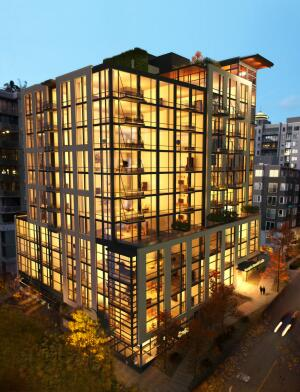 The Joseph Arnold Lofts is the first residential high-rish building in Seattle to achieve Green Globes certification.