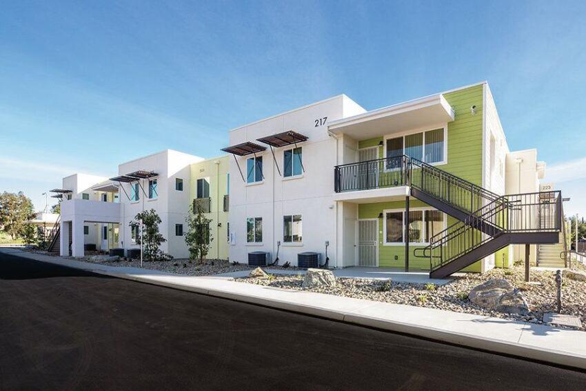 Avocado Court Mixes Family, Vets Housing