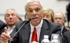 Angelo Mozilo, chief executive officer of Countrywide Financial Corp., testifies at a hearing of the House Oversight and Government Reform Committee on severance packages for executives involved in the subprime mortgage crisis, in Washington, D.C., U.S., on Friday, March 7, 2008. Mozilo, who left Countrywide upon it's acquisition by Bank of America in July 2008, may now be the target of a civil-fraud claim by the Securities and Exchange Commission. Photographer: Jay Mallin/Bloomberg News