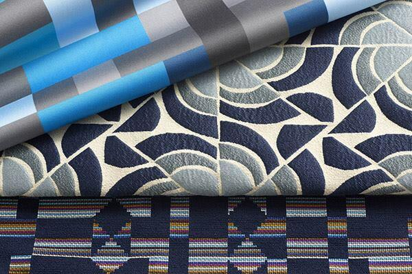 Newcomer Brooklyn-based textile and eyewear designer Alejandro Cardenas drew from a wide range of sources for his collection of three upholstery designs for KnollTextiles. Glider is intended to recreate the sensation of gliding over a landscape, while Soon is a nod to a song by one of Cardenas' favorite bands, My Bloody Valentine. Finally, Biscayne (shown) was inspired by the tropical vegetation of Key Biscayne, Fla. Soon is digitally printed on cotton sateen and comes in four colorways. Glider and Biscayne, which are made with a blend of cotton, polyester, and nylon, are woven stateside and come in eight colorways. knolltextiles.com