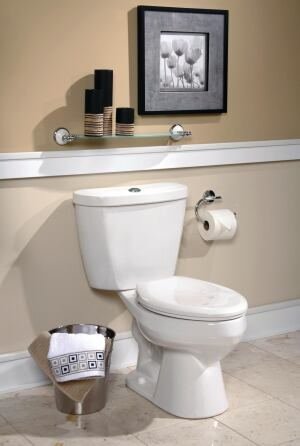 Mansfield Plumbing. The WaterSense-compliant Summit toilet offers 1.1- or 1.6-gpf options, reducing water usage up to 20% while flushing up to 800 grams of waste. The 3-inch tower is designed to seal tight with every flush, the company says, and won't rust or corrode. The toilet comes in three configurations: ADA, elongated, and round front. 877.850.3060. www.mansfieldplumbing.com.